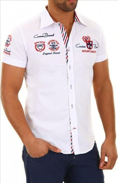 CARISMA košile pánská 9002 krátký rukáv slim fit od 830 Kč • Zboží.cz dd56444f03