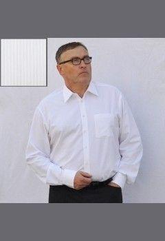 0e883414952 Bílá košile v prodloužené délce Assante 20017 (pánská s pruhem slim fit  vypasovaná dlouhý rukáv