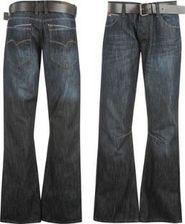pánské kalhoty Lee Cooper PU Belted Jeans Mens Dark Wash 0a4e010724
