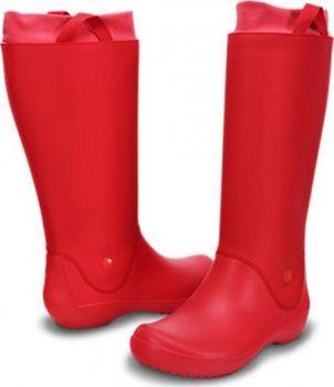 Crocs Dámské holínky RainFloe Boot Red-Red 12424-641 38-39 • Zboží.cz 18c25aed60