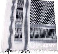 Šátek Palestin s třásněmi MFH® - černo-bílý bb4e3bff77