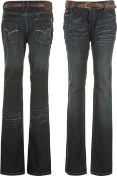 4ea3e94e Kalhoty Lee Cooper Belted Bootcut Jeans Ladies Dark Wash od 609 Kč ...