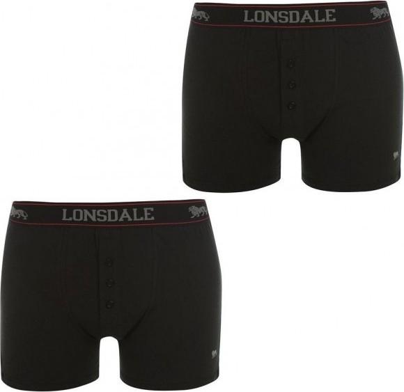 c2e765119a0 Lonsdale 2 Pack Boxers Mens Black od 259 Kč • Zboží.cz