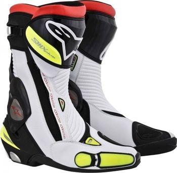 Sportovní motocyklové boty Alpinestars SMX Plus bílá žlutá neon ... b9dd967408