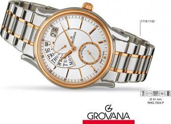 Grovana Retrograde 1718.1152. Luxusní retro švýcarské značkové hodinky ... e4ed85d3c0