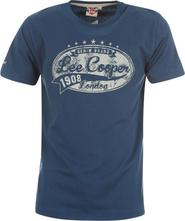 pánské tričko Lee Cooper Vintage T Shirt Mens modrá cb197a2cecd