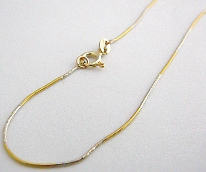 4989dc7de Dámský zlatý řetízek z bílého a žlutého zlata kombinace 585/2,48g hádě 45cm  H364 od 4 090 Kč | Zboží.cz