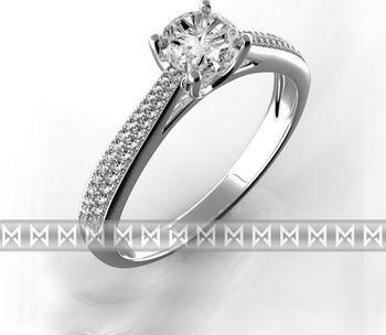 Luxusni Diamantovy Zasnubni Prsten Bile Zlato Briliant Vel 52
