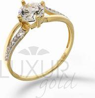 feb9d6c18 Dámský mohutný zásnubní zlatý prsten v kombinaci zlata 1211096-5-50-1  1211096