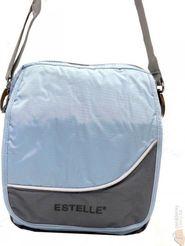kabelka Estelle Látková klopnová kabelka světlemodrá šedá 8475 c1d03dc88fb