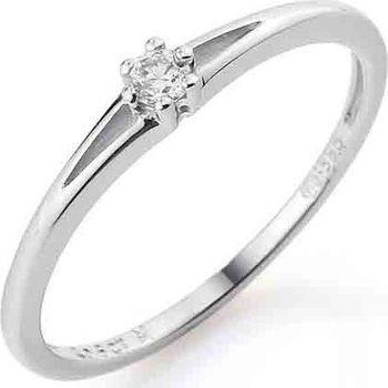 Zasnubni Prsten S Diamantem Bile Zlato Brilianty 585 1 25gr Diamant