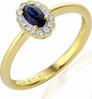 c03783d3f prsten Diamantový zlatý prsten alá Kate Middleton s pravým modrým safírem  3811083-5-52