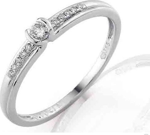Zasnubni Prsten S Diamantem Bile Zlato Brilianty 3860829 0 52 99 Od