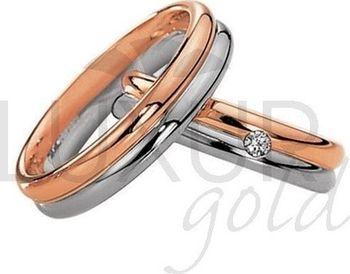 Luxusni Snubni Prsteny Cerveno Bile Zlato 436 504 505 4 Kombinace