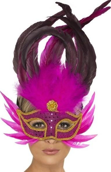 0edda5e0d Benátska maska Carnival - růžová od 174 Kč | Zboží.cz