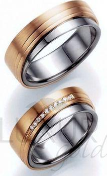 Exkluzivni Snubni Prsteny Cerveno Bile Zlato 436 518 519 Luxusni