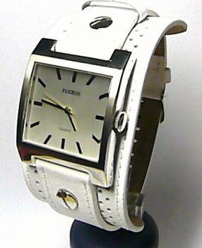Mohutné velké hranaté bílé dámské hodinky Foibos 1878 s bílým páskem ... 4a95dfc8ce