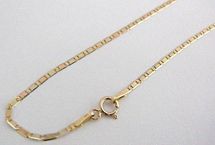 c99a7b56b Zlatý dámský řetízek ze žlutého a růžového zlata 585/1,66gr 46cm H398 od 1  990 Kč | Zboží.cz