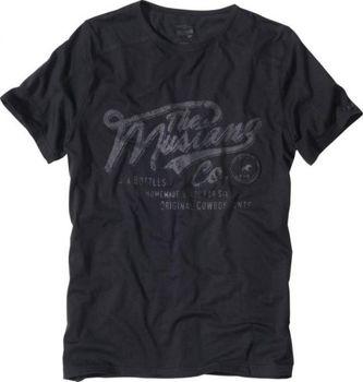 Luxusní pánské tričko MUSTANG krátký rukáv - černé • Zboží.cz 32b354732d