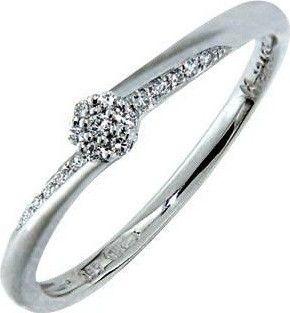 Zasnubni Prsten S Diamantem Bile Zlato 386 0738 Gems Saskie Od 8