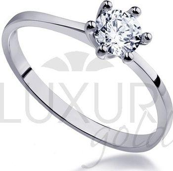 Mohutný zásnubní prsten z bílého zlata osazený velkým zirkonem 585 1 ... a11c3797457