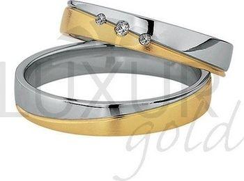 Luxusni Snubni Prsteny Zluto Bile Zlato 436 502 503 5 Kombinace