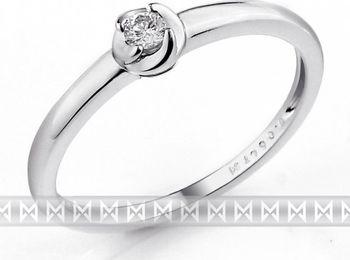 Zasnubni Prsten S Diamantem Bile Zlato Brilianty 3861319 0 53 99 Od