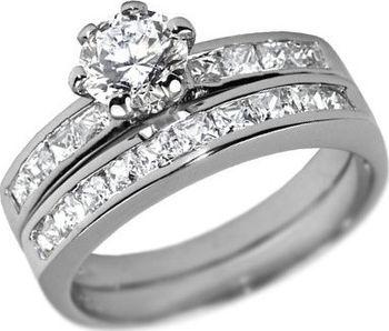 Silvego Stříbrný prsten dvojitý se Swarovski Zirconia 57 mm od 869 ... 6c040002dc1