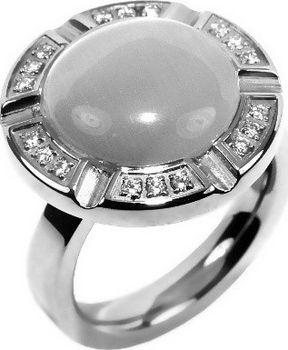 Silvego Ocelovy Masivni Prsten S Asterickym Kristalem Absr5729 Od