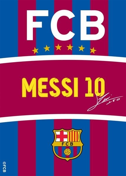 7756b97cfd4be Koberec FC Barcelona Messi s podpisem 03 95 x 133 cm | Zboží.cz