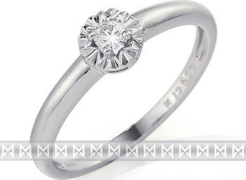 Zásnubní diamantový prsten z bílého zlata s velkým diamantem 1ks 0 ... 0e9bb0b66e9