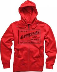 pánská mikina Mikina s kapucí Alpinestars SUPERIOR ZIP FLEECE-červená 957b571e45