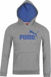 b6dcf7c397 Puma Logo Hoody Junior šedá
