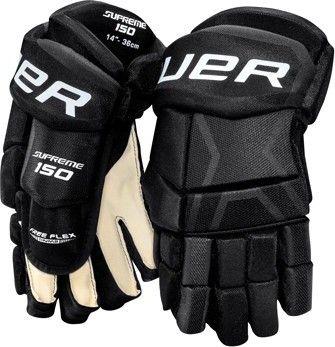 Bauer Supreme 150 junior rukavice černé bílé 10