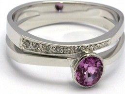 Luxusni Zasnubni Prsten S Ruzovym Safirem 585 3 83gr J 21299 12 Od