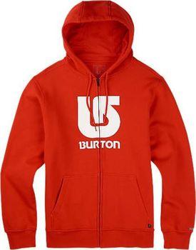 d92a77f770 Mikina Burton Logo vertical full ZIP hoodie fiery red
