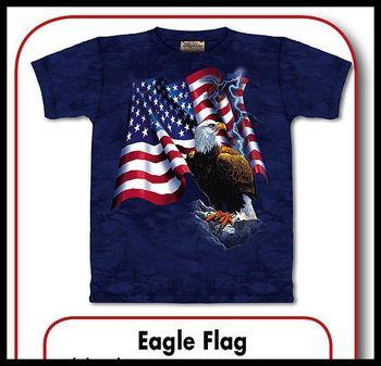 84b42e1b2fb tričko s motivem Eagle Flag velikost  M