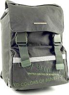 2e90c635f67 Školní batoh Benetton na přezky zelená