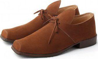 f04870220ec Barokní kožené pánské boty na podpatku