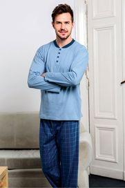 pánské pyžamo Pyžamo Regina Pánské Mateo modré 42c127ffb8