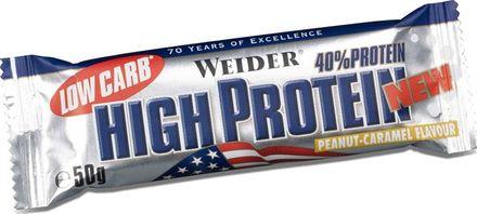 Výsledek obrázku pro Weider High Protein Low Carb Bar 50 g