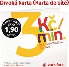 Sim Karta Vodafone Kredit 200kc Od 200 Kc Zbozi Cz