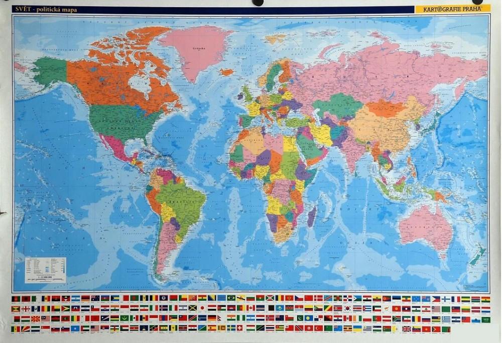 Svet Nastenna Politicka Mapa S Vlajkami Od 404 Kc Zbozi Cz