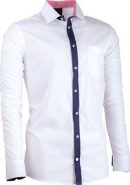 pánská košile Košile Assante 30687 bílá   modrá 434200fe5f